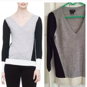 Club Monaco Agnes Intarsia Wool Sweater